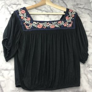 American Eagle Embroidered Crop